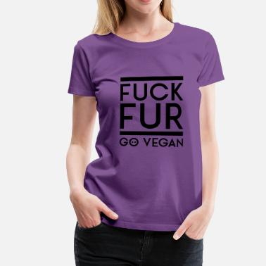 Fuck Pictogram FUCK FOR GO VEGAN black - Women's Premium T-Shirt