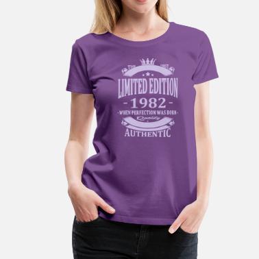 Año De Nacimiento Limited Edition 1982 - Camiseta premium mujer 89b255b7d2394