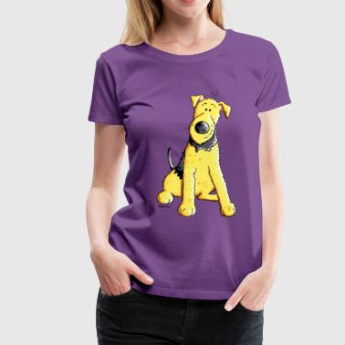 Funny Airedale Terrier - Women's Premium T-Shirt
