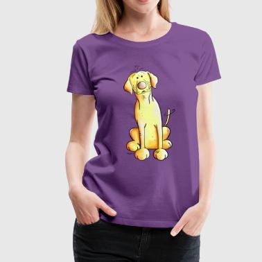 Golden Labrador Retriever - Women's Premium T-Shirt