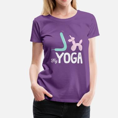 Primal Try Yoga! - Women's Premium T-Shirt