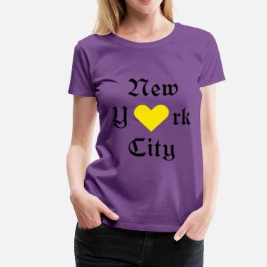 New York City New York, New York, York, New York, City, - Dame premium T-shirt