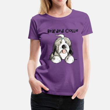 Bearded Collie Mignon Bearded Collie - T-shirt premium Femme