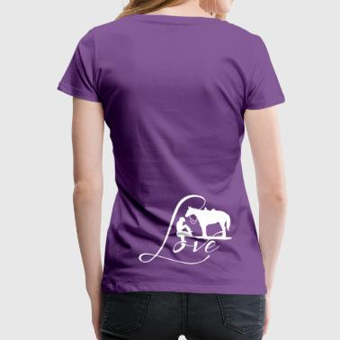 Cowgirls Love with horses - Frauen Premium T-Shirt