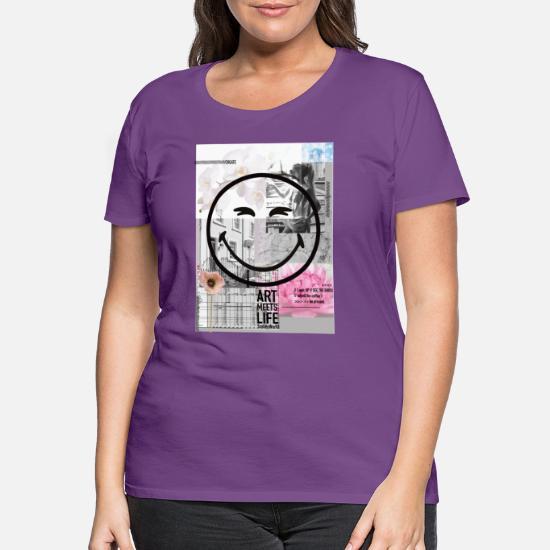 Smiley World Kunst Trifft Leben Frauen Oversize T-Shirt von Spreadshirt®
