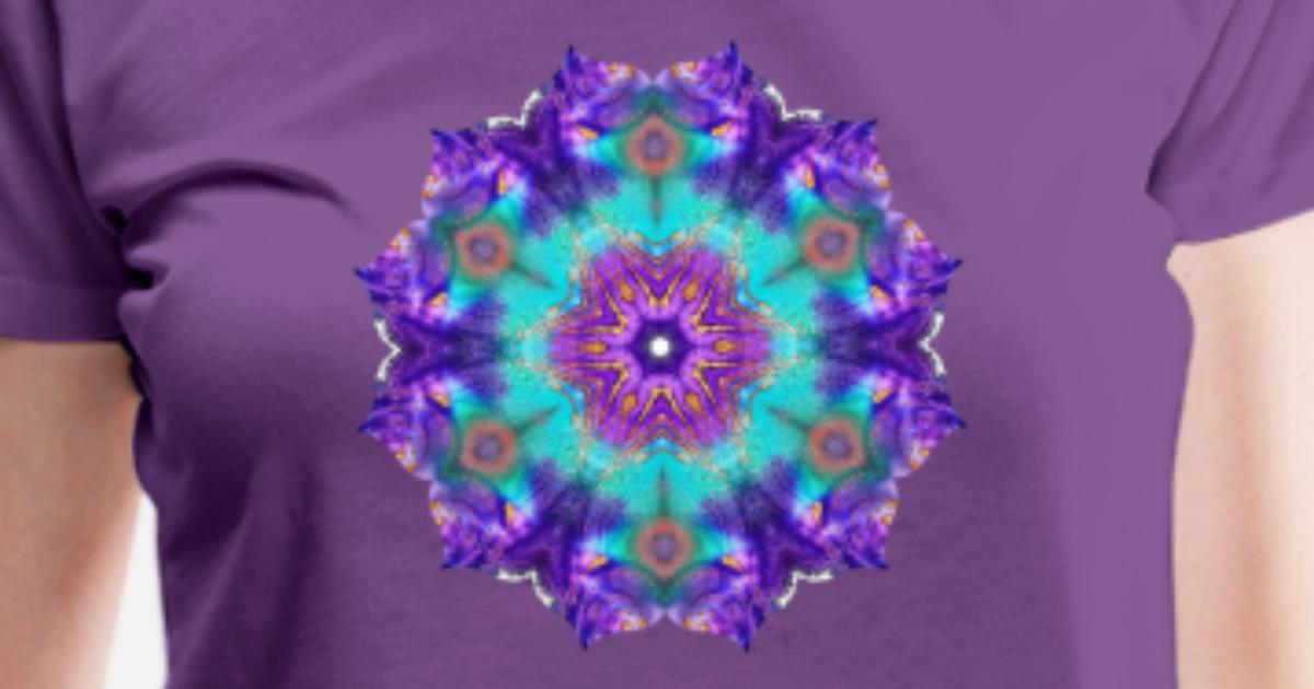 Mandala Tuerkis Lila 1 Frauen Premium T Shirt Spreadshirt
