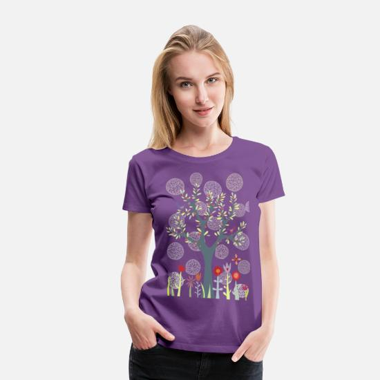 Nature T-Shirts - The Garden - Women's Premium T-Shirt purple