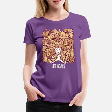 Collection Livsmål - Golden Labrador Retriever hunde - Premium T-shirt dame