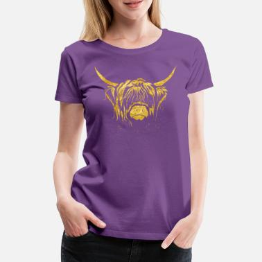 Highland Golden Highland Cow - Women's Premium T-Shirt