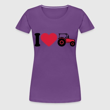 I Love Tractor - Women's Premium T-Shirt