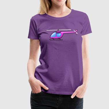 helicopter roze - Vrouwen Premium T-shirt