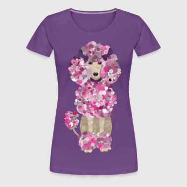 Fun Paint Splatter Poodle  - Women's Premium T-Shirt