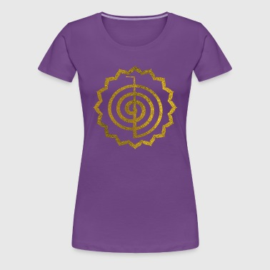 Choku Rei Symbol in lotus - Women's Premium T-Shirt