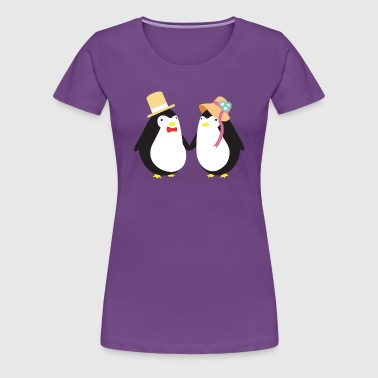 Penguin Couple - T-shirt Premium Femme