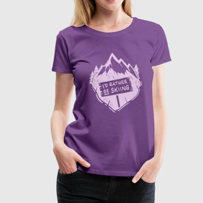 Ski Rabbit Ski Winter Girl / I'd rather be skiing - Women's Premium T-Shirt