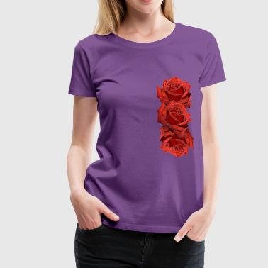 Roses, red roses, flowers, flowers, nature, plants - Women's Premium T-Shirt