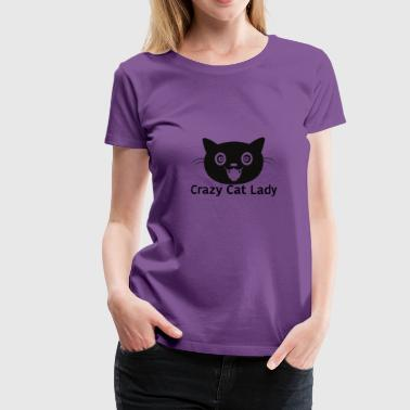 Crazy Cat Lady - Dame premium T-shirt