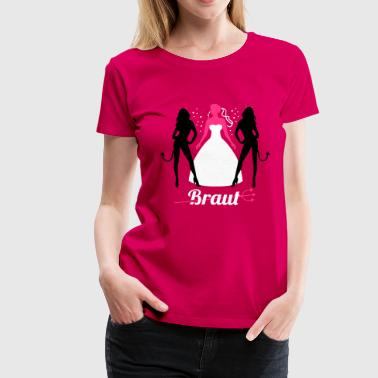 Teuflisch JGA - Braut - Braut security - Team - Teufel 3C - Frauen Premium T-Shirt