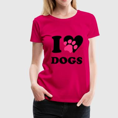 I love dogs - dog - Women's Premium T-Shirt