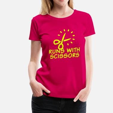 Hazardous Miscellaneous Runs with Scissors - Women's Premium T-Shirt
