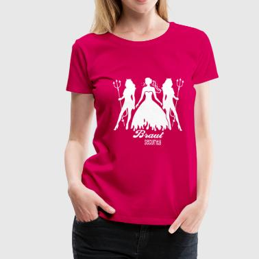 JGA - Braut security - Bride - Team - Teufel 1C - Frauen Premium T-Shirt