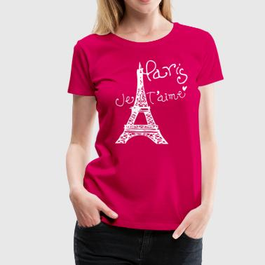 Paris Je T'aime Eiffel tower - Women's Premium T-Shirt