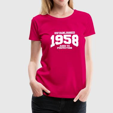 aged to perfection established 1958 (es) - Camiseta premium mujer