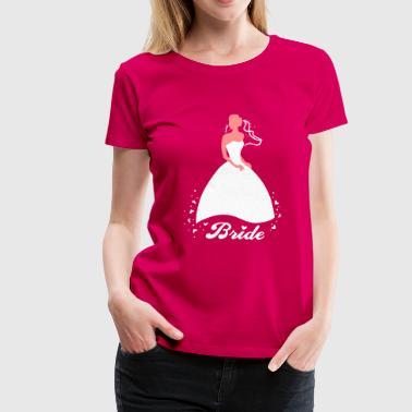 Bride - groom - wedding - marriage - Women's Premium T-Shirt
