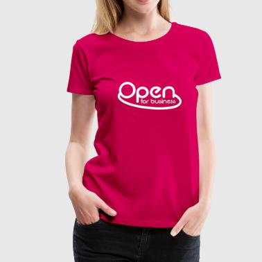 neon open for business in neon pink - Women's Premium T-Shirt