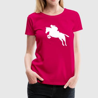 show jumping girl - Women's Premium T-Shirt