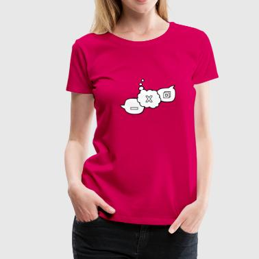 Computer speech balloons - Women's Premium T-Shirt