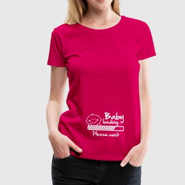 Baby loading - please wait - Vrouwen Premium T-shirt