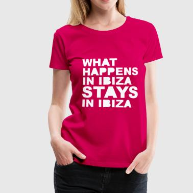 Stays In Ibiza - Vrouwen Premium T-shirt