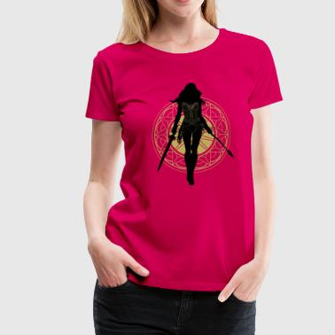 Warner Bros Wonder Woman Silhouette - T-shirt Premium Femme