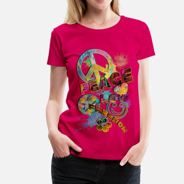 Flower Power make LOVE not WAR - Frauen Premium T-Shirt