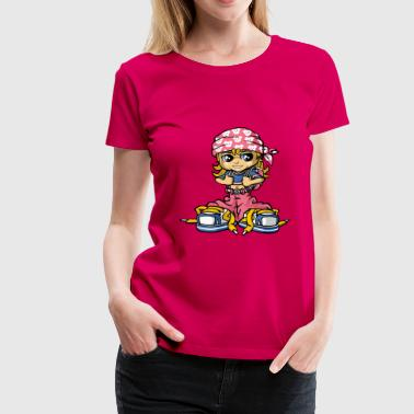 Hip hop girl and bandana - Women's Premium T-Shirt