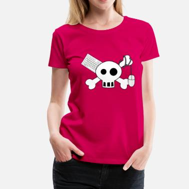 Piraten Gamer Pirate Tastaturhero - Frauen Premium T-Shirt