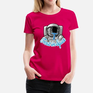 Outer Frost in Space Astronaut - Women's Premium T-Shirt