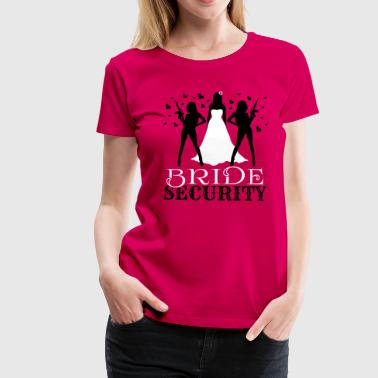 Bride Security - Dame premium T-shirt