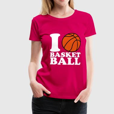 Ball I Love Basketball V2 - Dame premium T-shirt