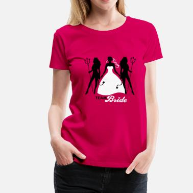 Polterabend JGA - Team Bride - Braut - Security - Teufel 2C - Frauen Premium T-Shirt