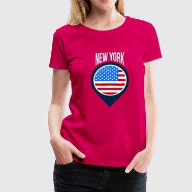 New York City Pin Shirt - Frauen Premium T-Shirt
