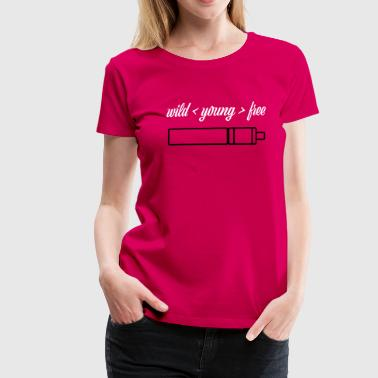 wild young free with TubeMod - Women's Premium T-Shirt