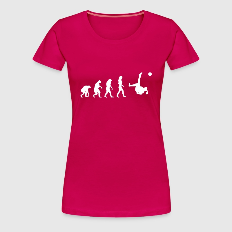 fussball evolution frauen - Frauen Premium T-Shirt