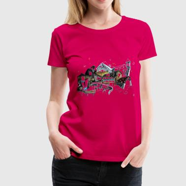 Venezia Venice T-shirts - Gondola Night Dream - Fashion Italy - Women's Premium T-Shirt