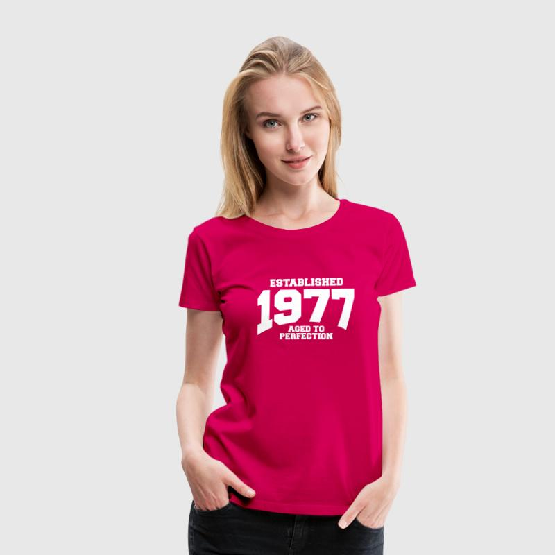 aged to perfection established 1977 (uk) - Women's Premium T-Shirt