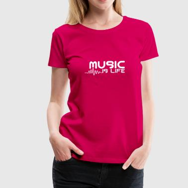 Music is life with pulse - T-shirt Premium Femme