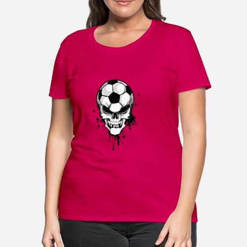 f5e7d931768bc soccer skull kicker ball football pirat Camiseta premium mujer ...