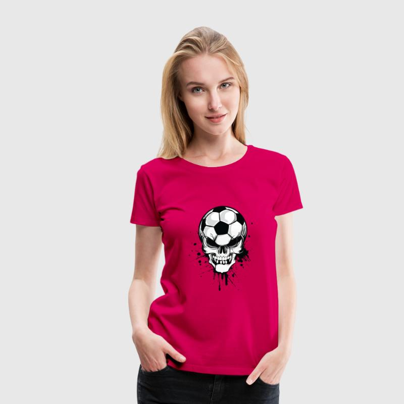 soccer skull kicker ball football pirat - Vrouwen Premium T-shirt
