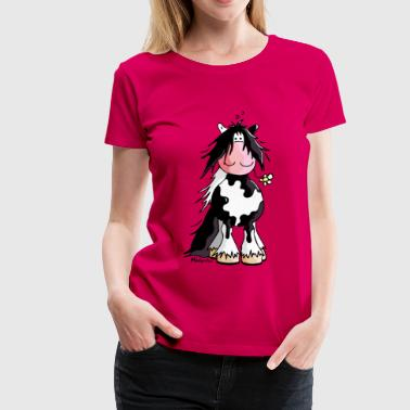 Irish Tinker Hest -  Irish Cob - Cartoon - Dame premium T-shirt